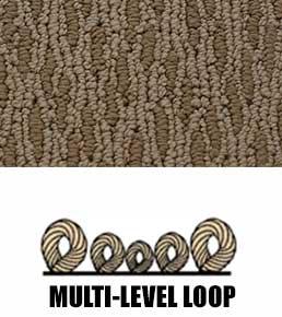We carry multi level loop carpet