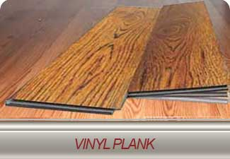 Vinyl plank flooring in many styles and colours.